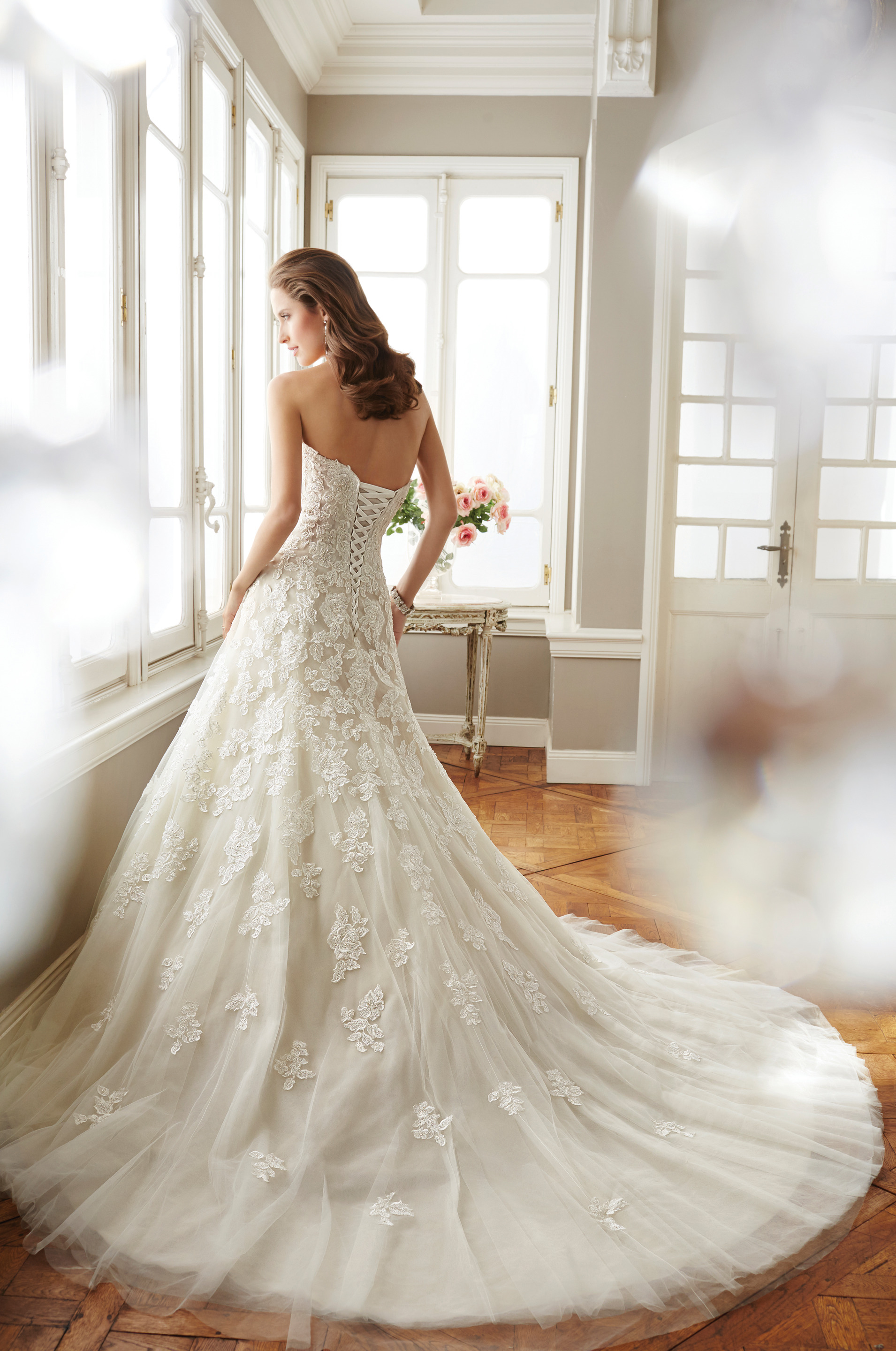 Sophia Tolli Wedding dress, drop waist bridal gown