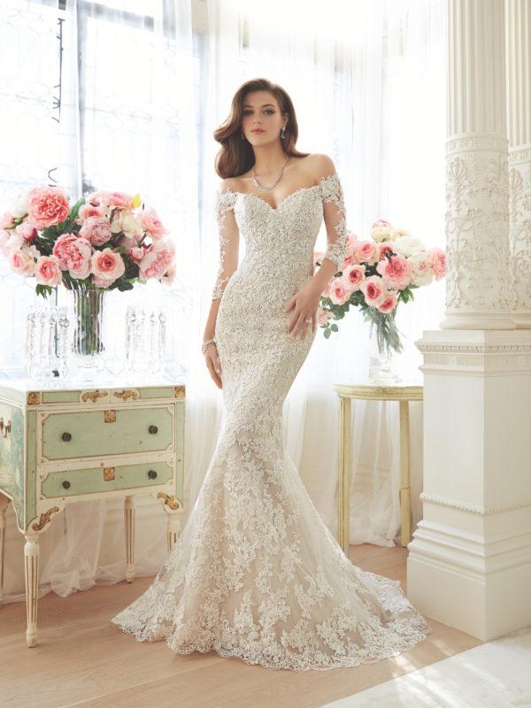 Sophia Tolli Wedding Dress Off Shoulder wedding dress. Y11632 Mermaid wedding dress