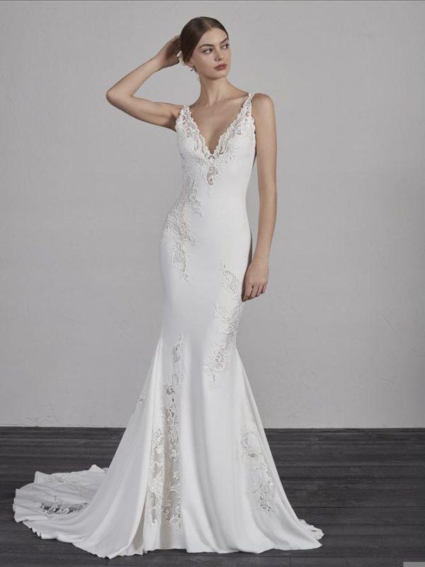 Pronovias Wedding Dress, Pronovias Crepe Wedding Dress Elegant wedding dress