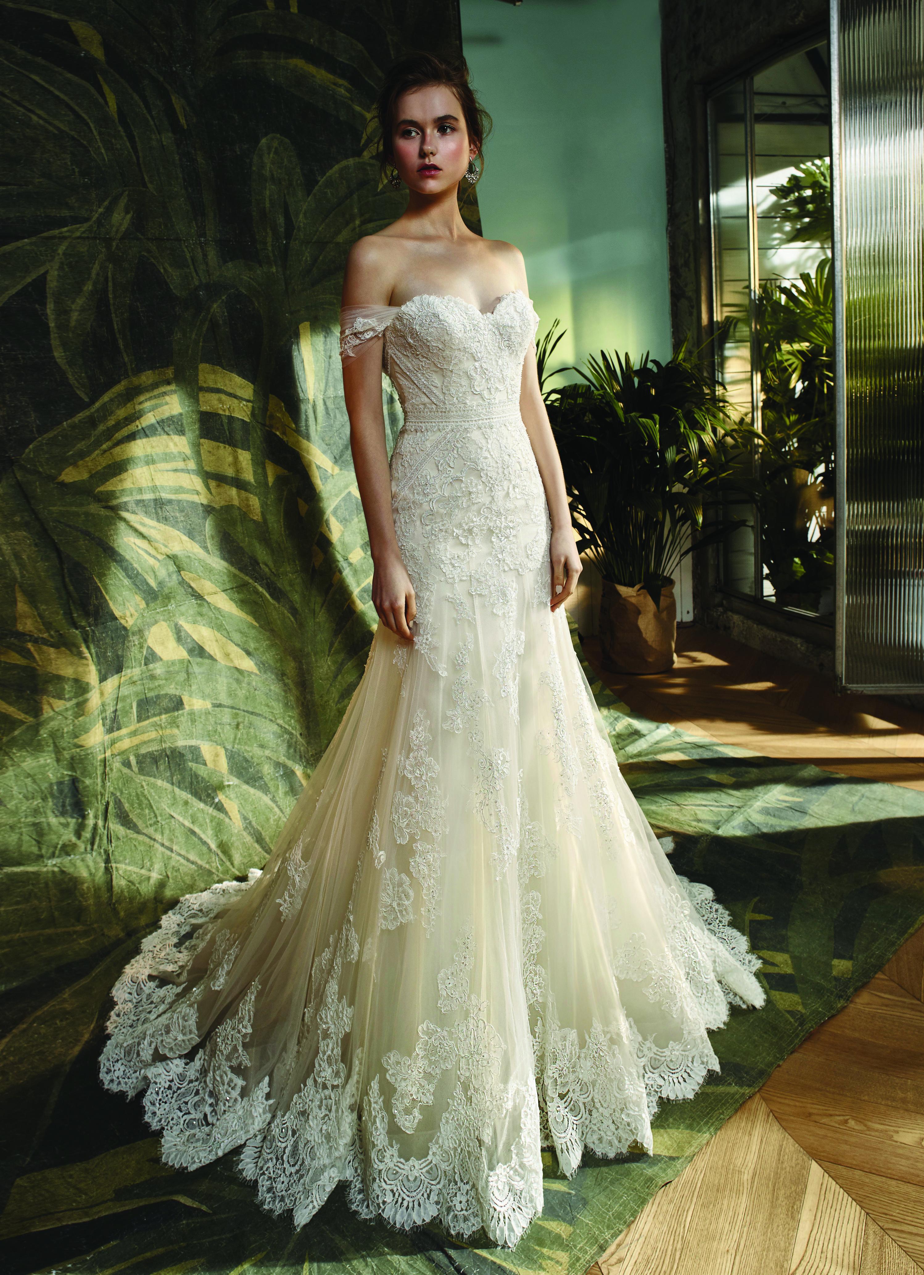 Enzoani Blue Wedding Dress Kara