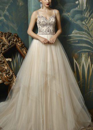 Enzoani Blue Jovita Toronto bridal store romantic wedding gown