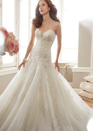 Sophia Tolli Wedding dress, drop waist bridal gown