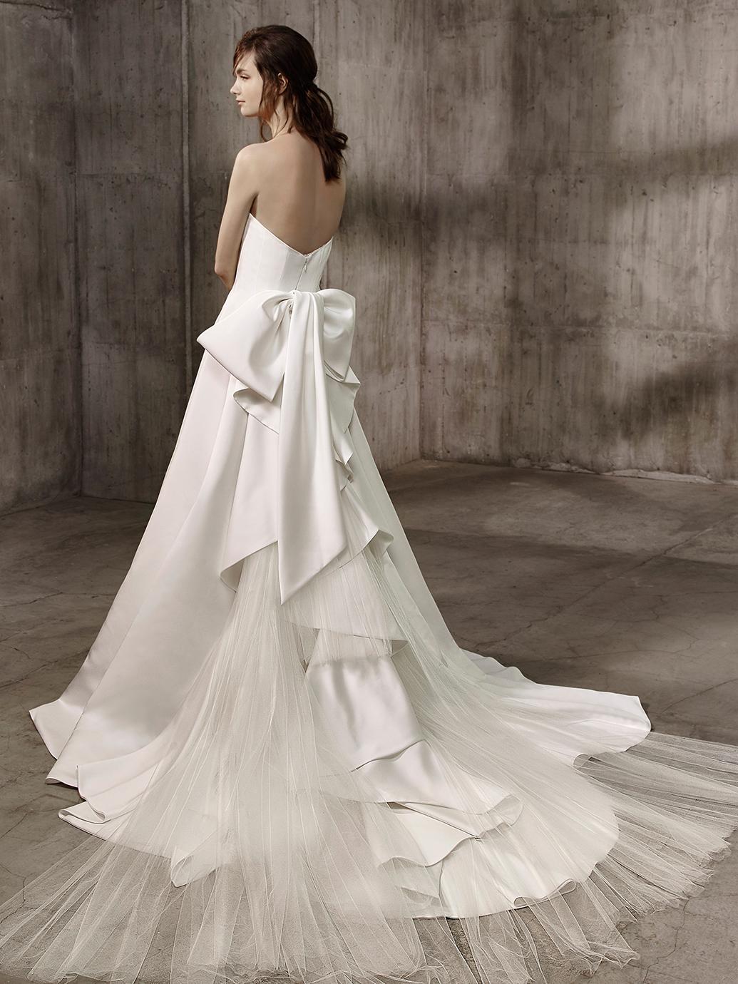 Badgley Mischka Wedding Dress Alice, satin wedding dress, Aline wedding dress, plain wedding dress, simple wedding dress, classic wedding dress