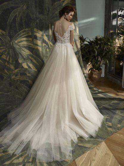 Enzoani Blue Wedding Dress Off shoulder Wedding Dress