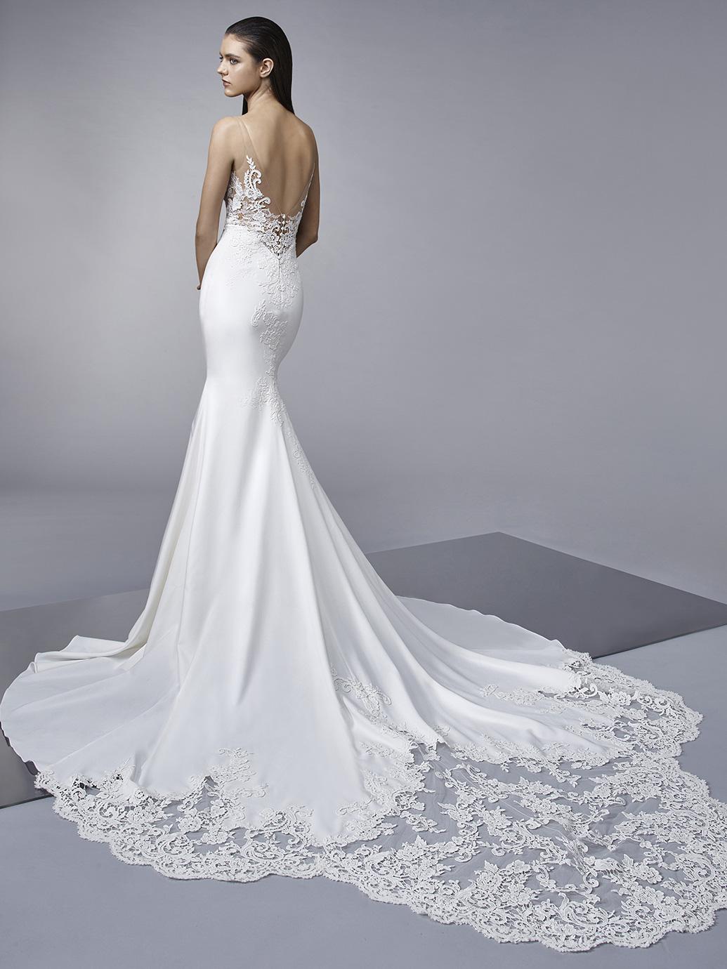 Enzoani_Wedding Gown2018_Pro_Margo_Bac_Web crepe wedding dress light wedding dress