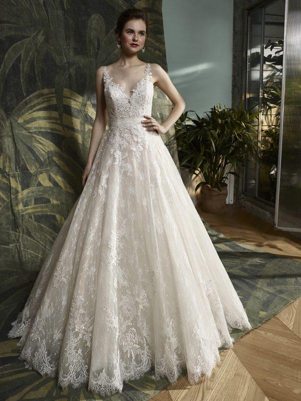 Aline wedding dress Blue by Enzoani Wedding Dress lace wedding dress high neck wedding dress