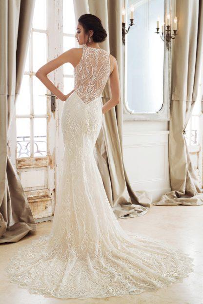 Sophia Tolli Wedding Derss Halter Top beaded mermaid wedding gown backless sexy wedding dress black wedding dress