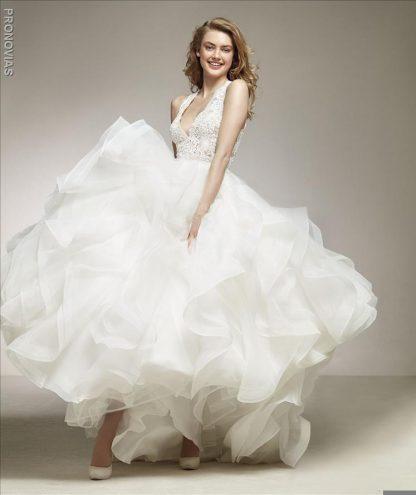 Pronovias Wedding Dress Pronovias ruffle wedding dress lace ruffle wedding dress