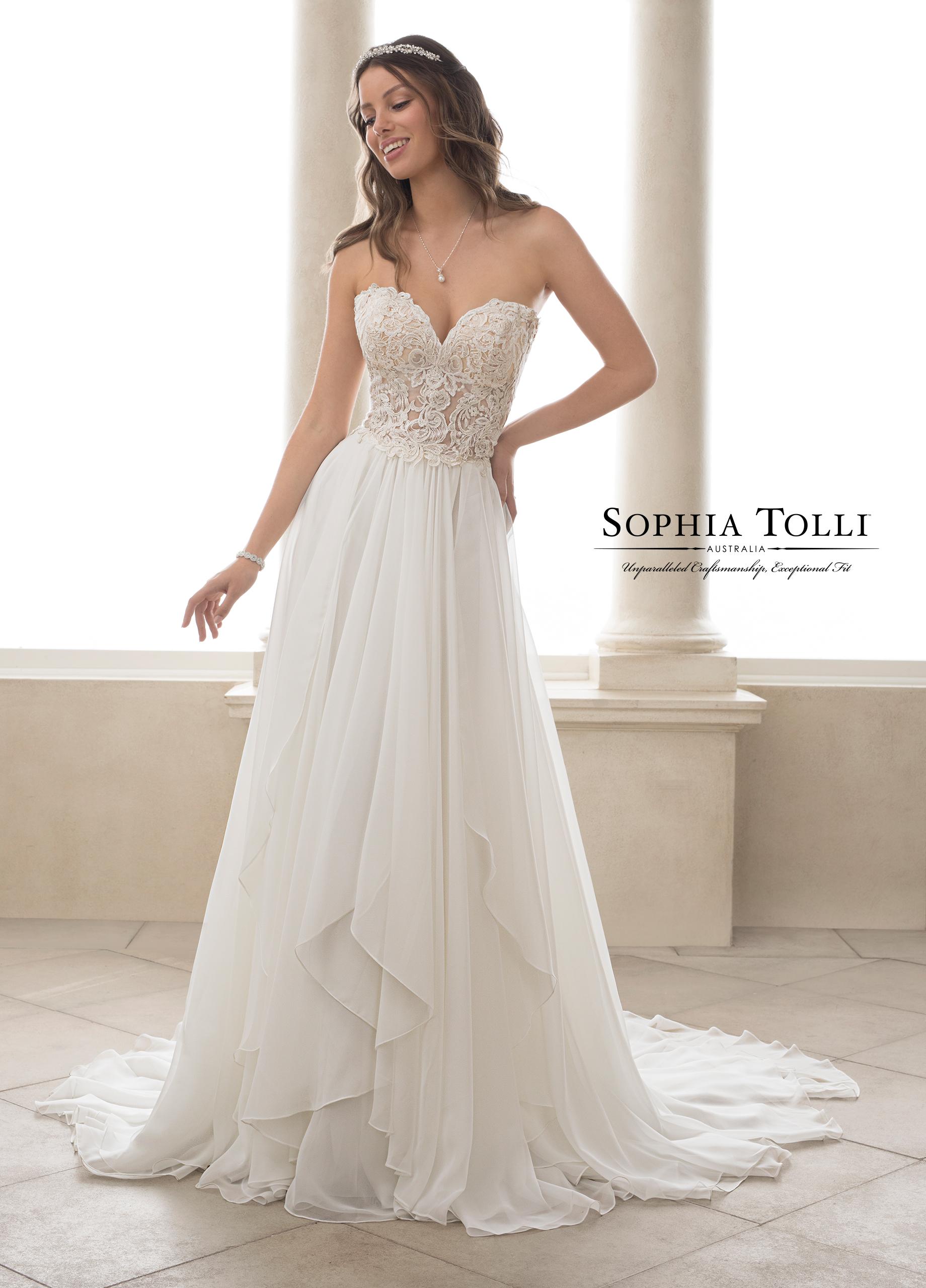 Sophia Tolli Wedding Dress Y21826 Romantic wedding dress