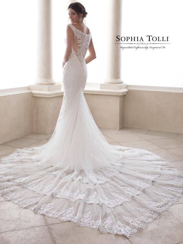 Sophia tolli Y21828 Cobalt Wedding Dress