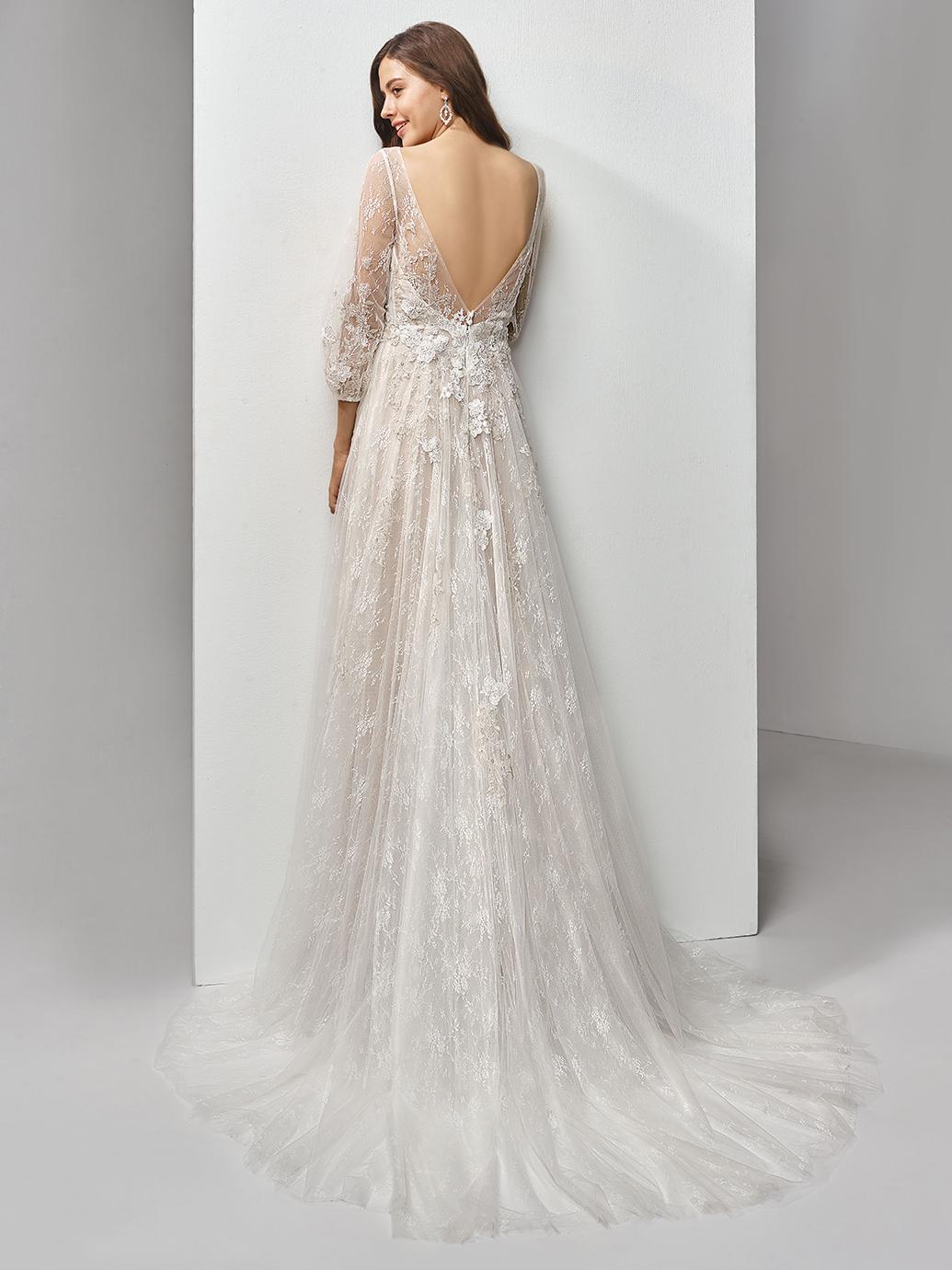Enzoani Wedding Dress BT19-18 Aline wedding dress long sleeve wedding dress boho wedding dress backless wedding dress