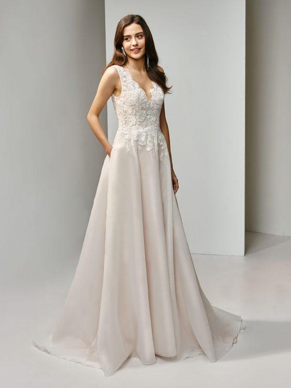 Enzoani Wedding Dress BT19-22 Aline Wedding Dress Vneck wedding dress organza wedding dress romantic wedding dress