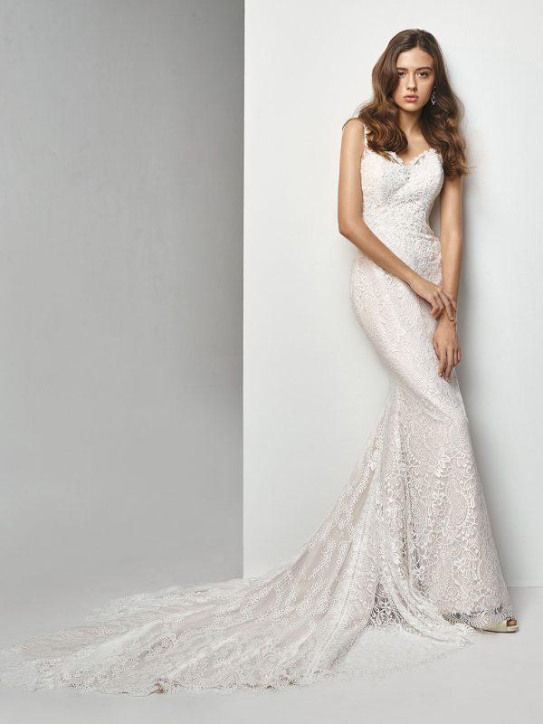 Enzoani Wedding Dress BT19-04 Mermaid Wedding Dress backless wedding dress