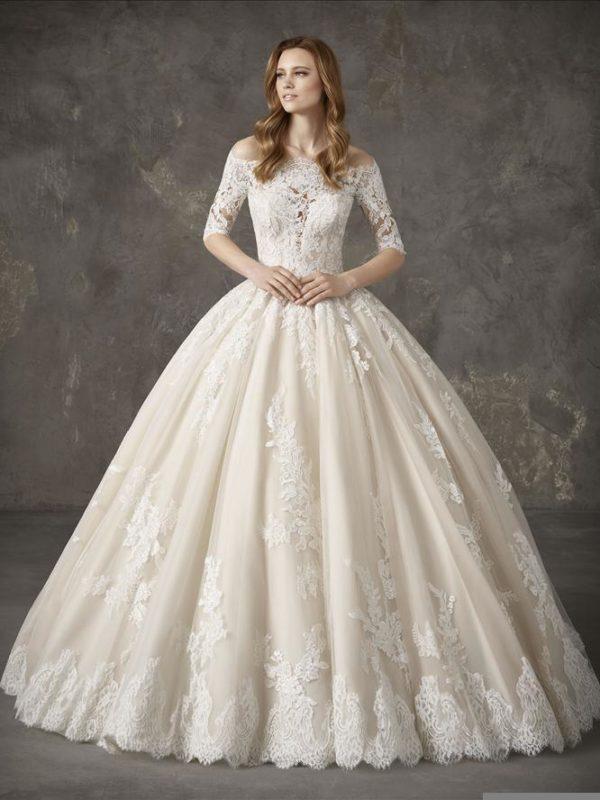 Pronovias Wedding Dress NANTES Pronovias Off shoulder ball gown
