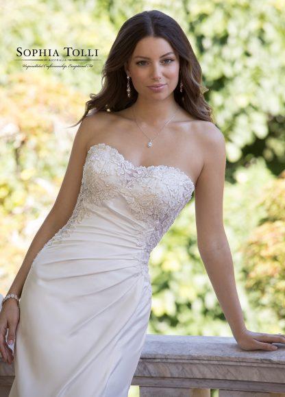 Sophia Tolli Wedding dress Y21820 Jasper Off shoulder wedding dress fit and flare wedding dress