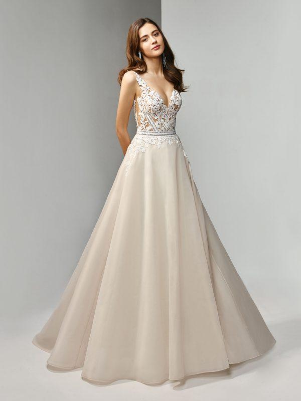 Enzoani Beautiful Wedding Dress BT19-11 Aline wedding dress V neck wedding dress sexy wedding dress simple Aline wedding dress. organza wedding dress
