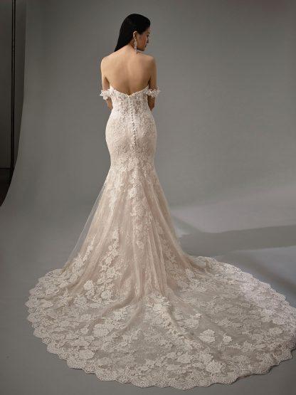 Enzoani Wedding Dress Marija, Enzoani Bridal Gown Enzoani blue Wedding dress Marija, strapless wedding dress, off shoulder wedding dress, mermaid wedding dress, lace wedding dress